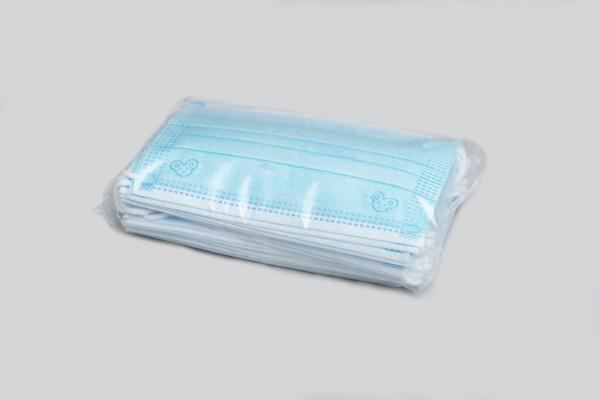 Medizinische Mundschutzmaske für Kinder, 3-lagig, Typ IIR, blau